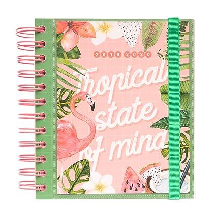 Agenda escolar 2019/2020 día página M Tropical Summer