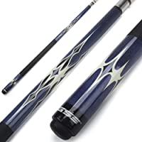 "GSE Games & Sports Expert 58"" 2-Piece Canadian Maple Billiard Pool Cue Stick(4 Colors, 18-21oz)"