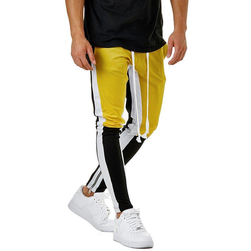 YanHoo Pantalones de chándal Sueltos Ocasionales de la Aptitud del Deporte de los Hombres de la Moda Que activan Pantalones de Jogging Camuflaje Militar: ...