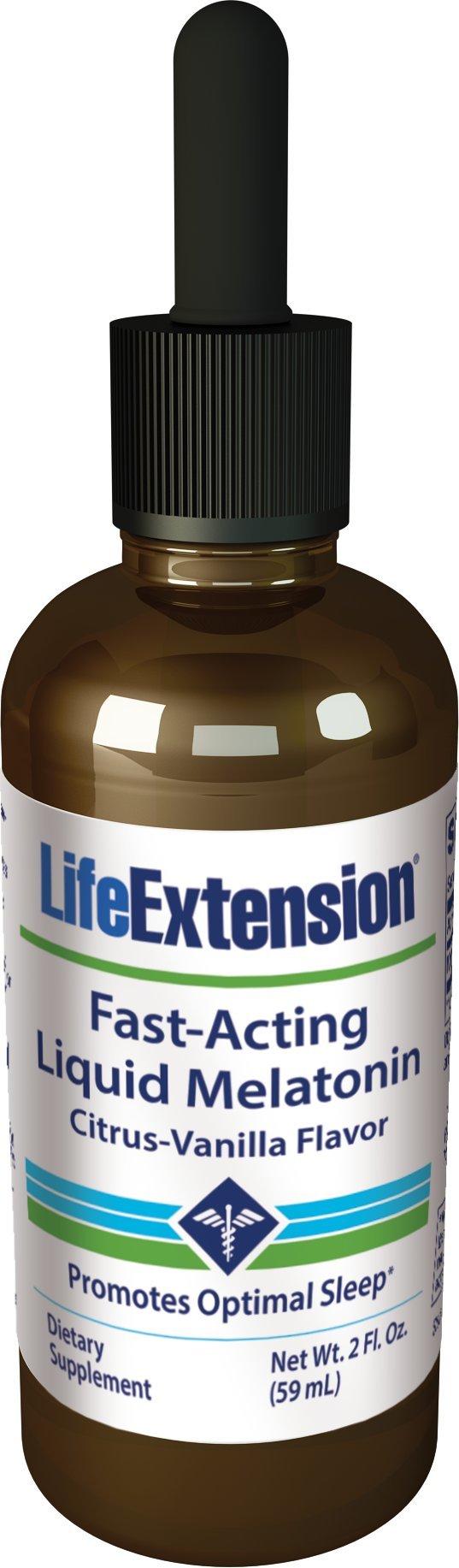 Life Extension Fast-Acting Liquid Melatonin Citrus-Vanilla Flavor, 2 Fl. Ounce