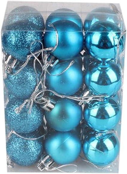 24Pc Paillettes Noël Boules boules de Noël arbre ornement décoration de Noël À faire soi-même