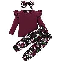 ZOEREA 2 Piezas Conjunto de Ropa de Bebé Niño Pantalones + Camisa de Rayas Pajarita Negra Conjunto de Traje de Caballero…