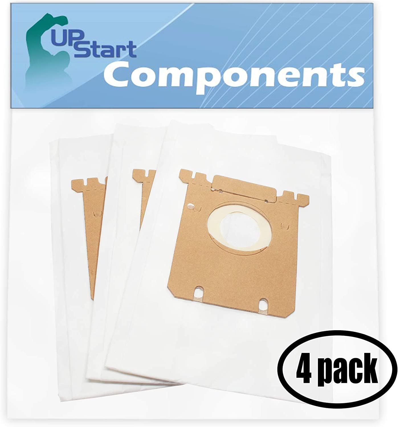 Upstart Battery 12 Replacement for Eureka 6982A Style S Vacuum Bags - Compatible with Eureka 61230F, OX Vacuum Bags (4-Pack - 3 Vacuum Bags per Pack)