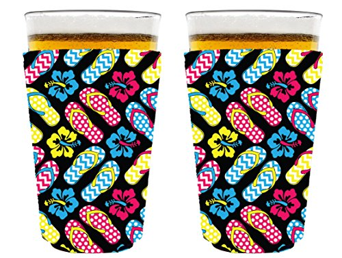 Coolie Junction Flip Flop Pattern Pint Glass Coolie 2 (Coolie Glass)