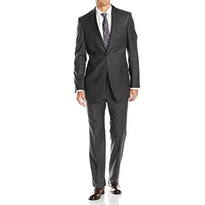 Luciano Natazzi Mens Suits 2 Button Modern Fit Side Vent Narrow Stripe Suit