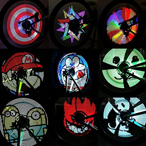 CYCPLUS Bike Spoke Lights - LED Bicycle Wheel Light, USB Rechargeable Bike Light, Programmable Pics Rainproof Rim Accessory, with DIY XuanWheel APP for Night Riding X1