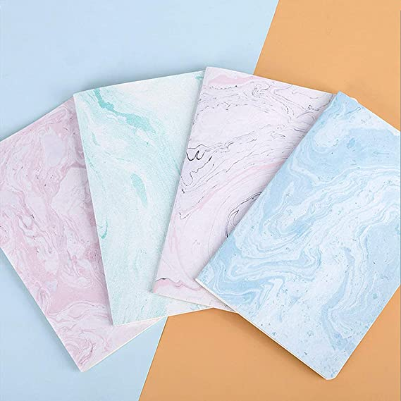 Czemo Pack de 4 Cuaderno A5 Libretas Bonitos Bloc de Notas Cuaderno de Notas Tapa Blanda Cubierta de Kraft Diario de Viaje Pequeña Diarios: Amazon.es: Oficina y papelería