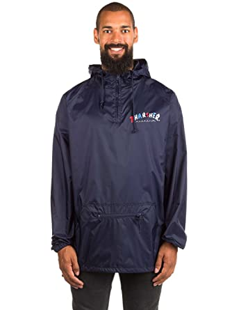 Thrasher Knock-Off (Navy) Anorak Pullover Jacket at Amazon Men's ...