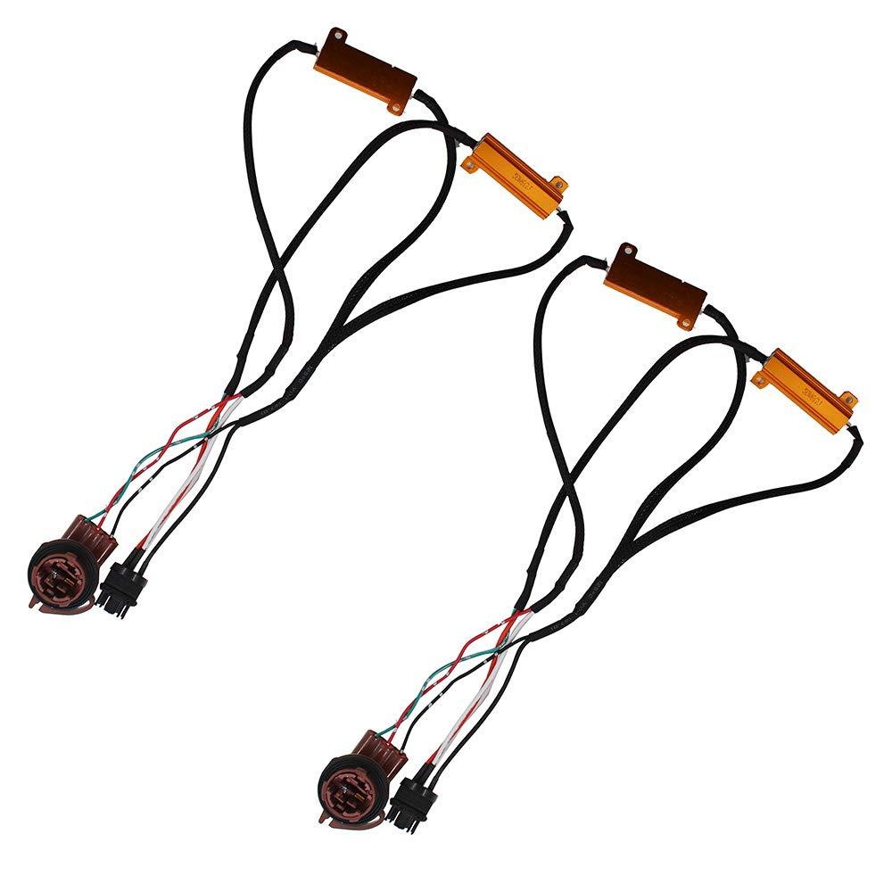 labwork-parts 3157 4157 Load Resistor for Switchback LED Turn Signal Light Fix Hyper Flash NJ