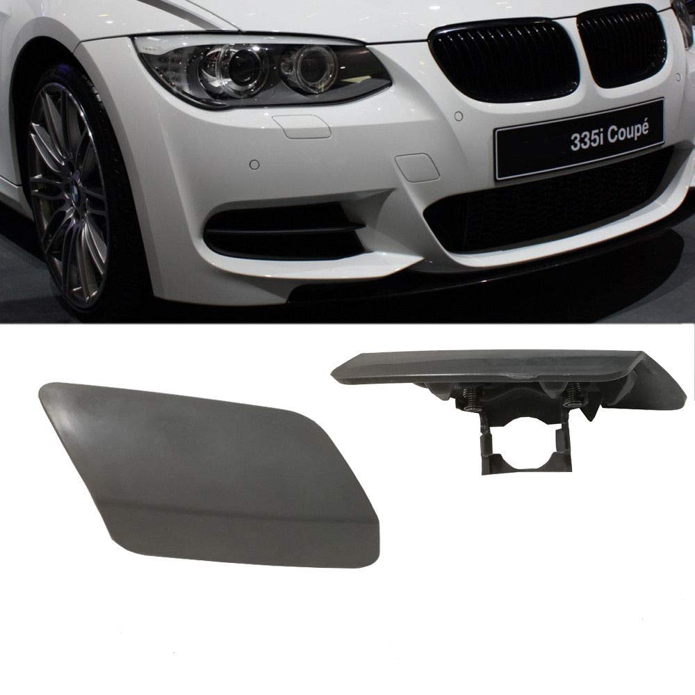 Ricoy For E92 E93 3-Series 2011-2014 LCI Front Bumper Headlight Washer Cover Cap 328i 335i Unpainted Lamp Flap Bumper Trim Primered