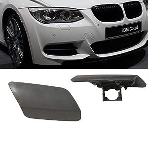 Ricoy Front Bumper Headlight Washer Cover Cap Unpainted Bumper Trim Primered For BMW 2011-2014 E92 E93 3-Series 328i 335i LCI