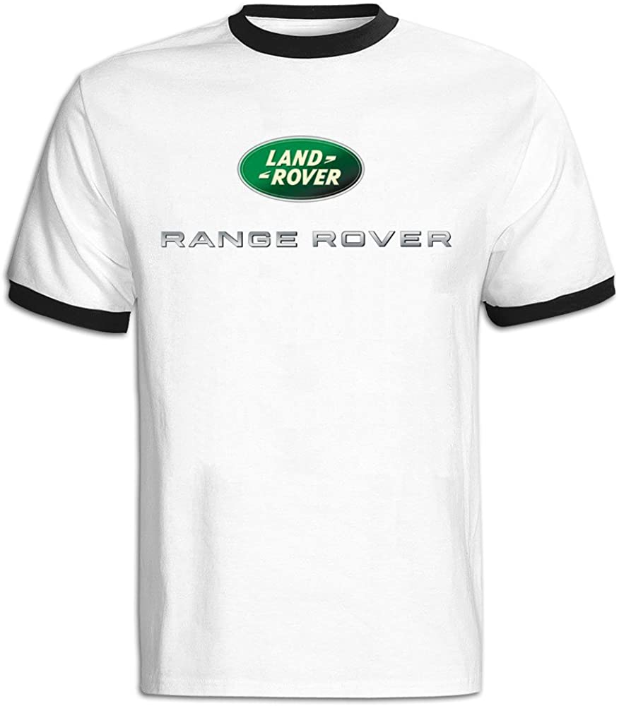 Men T-Shirt Men's Range Rover Logo Baseball T Shirt Black