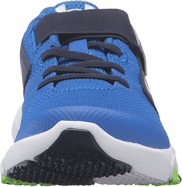 767677710 Kids' Boys' Pre School Primed Adjustable Closure Running Shoe. Under Armour  Men's Pre School Primed Adjustable Closure Sneaker, Ultra Blue (907)/