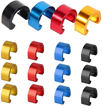 Yuauy 10 PCs RED Metal C-Clips Clamps U-Clips Buckle MTB BMX Mountain Bike Bicycles Brake Cable derailleur Shifter Cable Guides Gear Cable Housing Hose