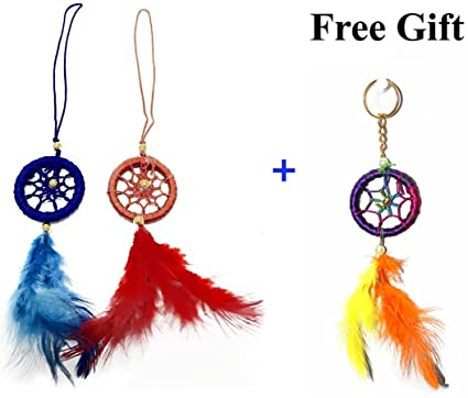 Hands of Odisha Car and Wall Hanging Dream Catcher - Multicolour(Pack of 2)