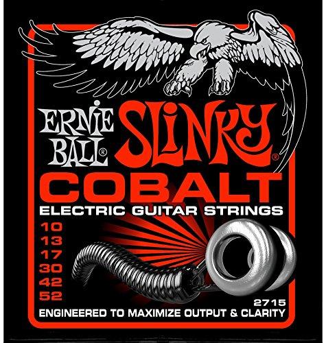 6 Sets of Ernie Ball 2715 Cobalt Skinny Top Heavy Bottom Electric Guitar Strings