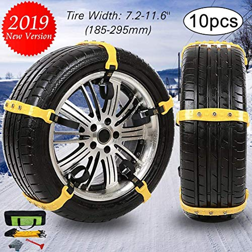 FairyMe Tire Chains Car Safety Chains Cable Traction Mud (Snow Zip Ties For Tires)