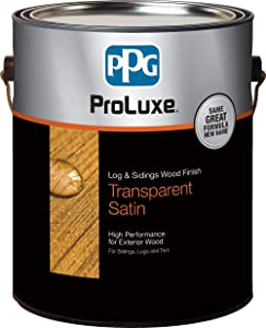 PPG ProLuxe Log and Siding Wood Finish, 1 Gallon, 005 Natural Oak