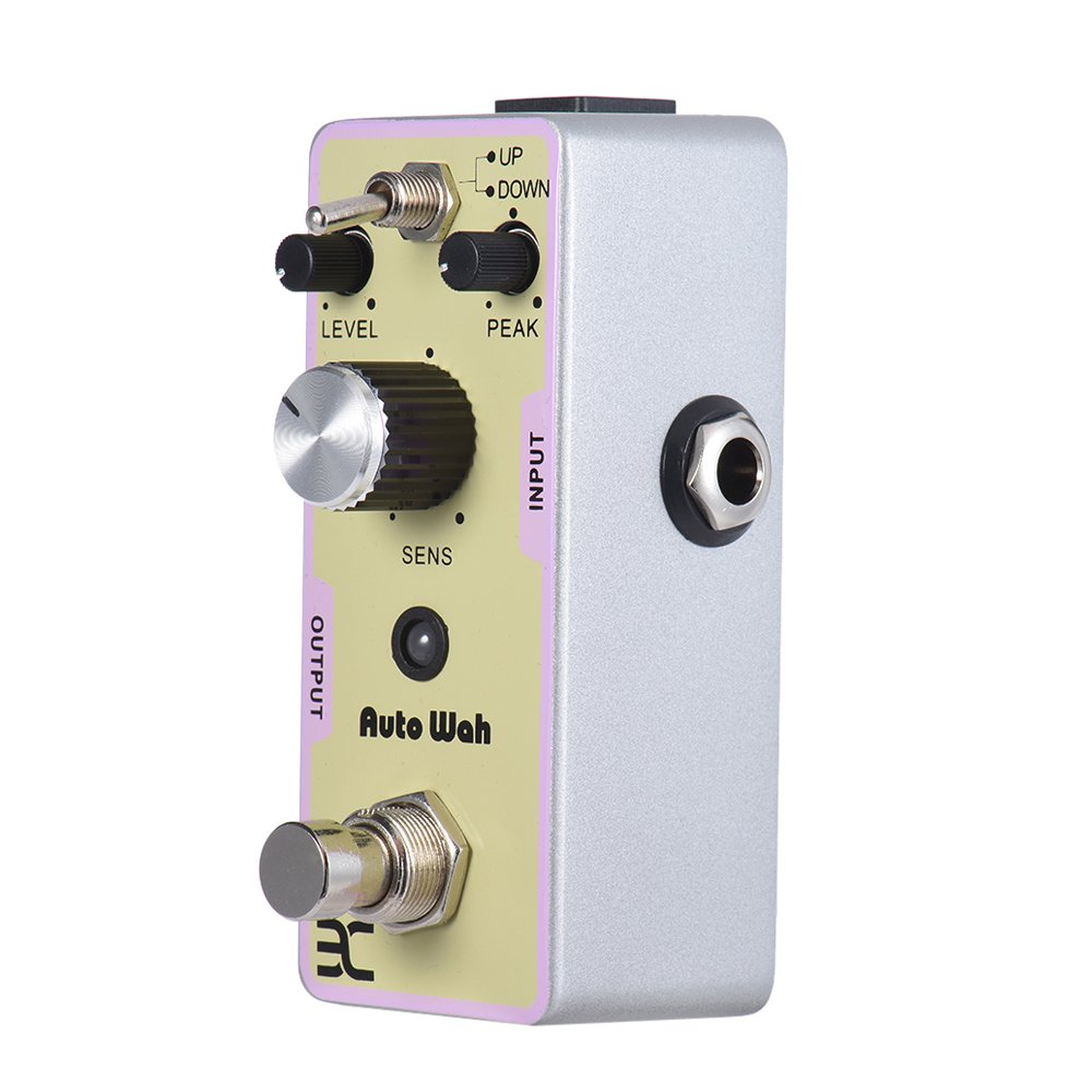Ex Auto Wah Pedal Mini Envelope Filter Guitar Pedals With Peak Sens Knob and Up/Down Toggle Switch To Change Wah Direction