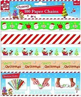 100 St/ück Machen Sie Ihre Eigenen Weihnachts Folien Papier Ketten
