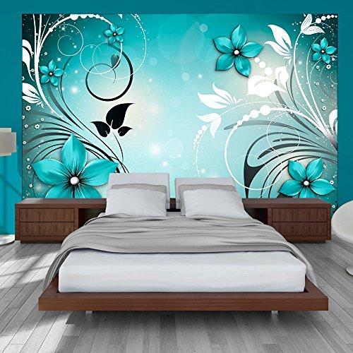 Vlies Fototapete 400x280 cm - 3 Farben zur Auswahl - Top - Tapete - Wandbilder XXL - Wandbild - Bild - Fototapeten - Tapeten - Wandtapete - Wand - Blumen Ornament b-A-0044-a-c