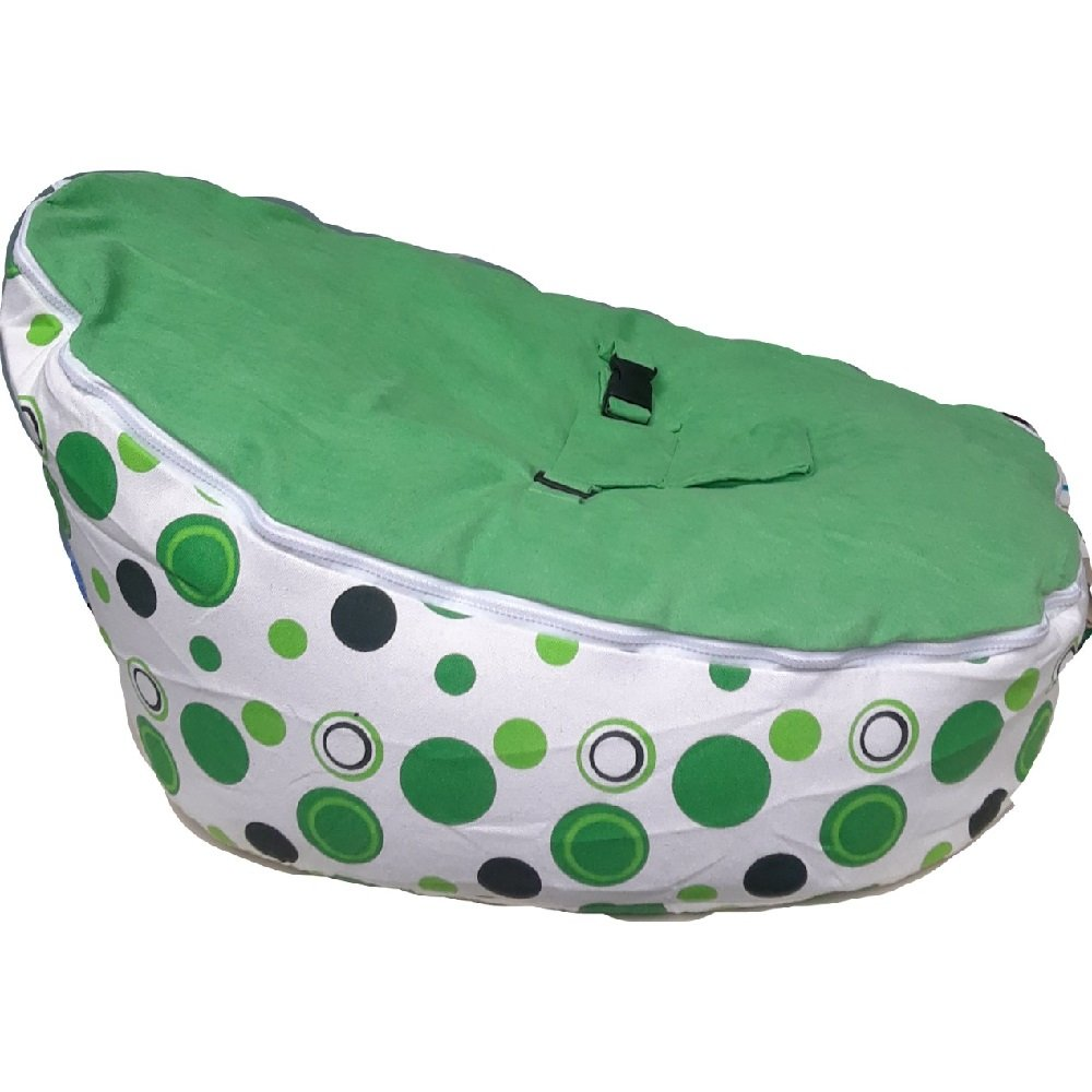 Babybooper Bean Bag Soft Baby Cozy Baby Sitting Chair Nursery Pillow Safe (Baby Green Apple) BradfordCityOutlets