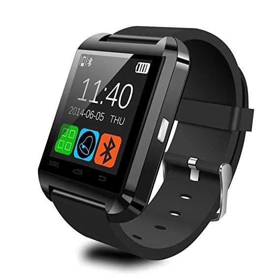 Montre connectée smartwatch Bluetooth Android écran tactile Noir: Amazon.fr: High-tech