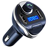 Amazon Price History for:Criacr Bluetooth FM Transmitter, Wireless In-Car FM Transmitter Radio Adapter Car Kit, Universal Car Charger with Dual USB Charging Ports, Hands Free Calling for iPhone, Samsung, etc. (Blue)