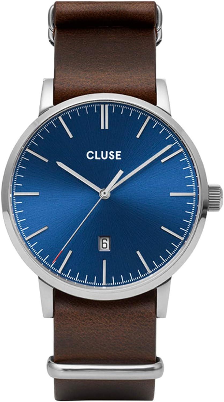 CLUSE Reloj Analógico para Hombre de Cuarzo con Correa en Cuero CW0101501008