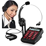 Corded Phone Headset, MCHEETA Call Center Telephone Headset with Dialpad, Noise Cancelling Phone Headsets for Office…
