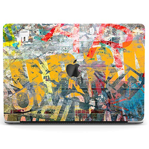 Wonder Wild Case for MacBook Air 13 inch Pro 15 2019 2018 Retina 12 11 Apple Hard Mac Protective Cover Touch Bar 2017 2016 2015 Plastic Laptop Graffity Print Street Art Grunge Concrete Wall Colorful]()