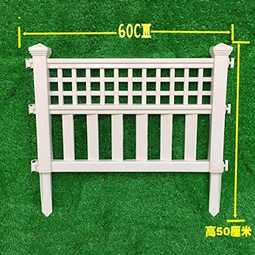 SL&ZX Plastic fence,Villa bed fence Plastic fence Patio garden decor Country garden screen welded economy fence-A 60x50cm(24x20inch)
