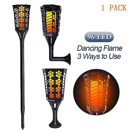 4 Pcs Solar LED Flackernde Landschaft Lampen Tanzen Flamme Fackel Garten Lichts