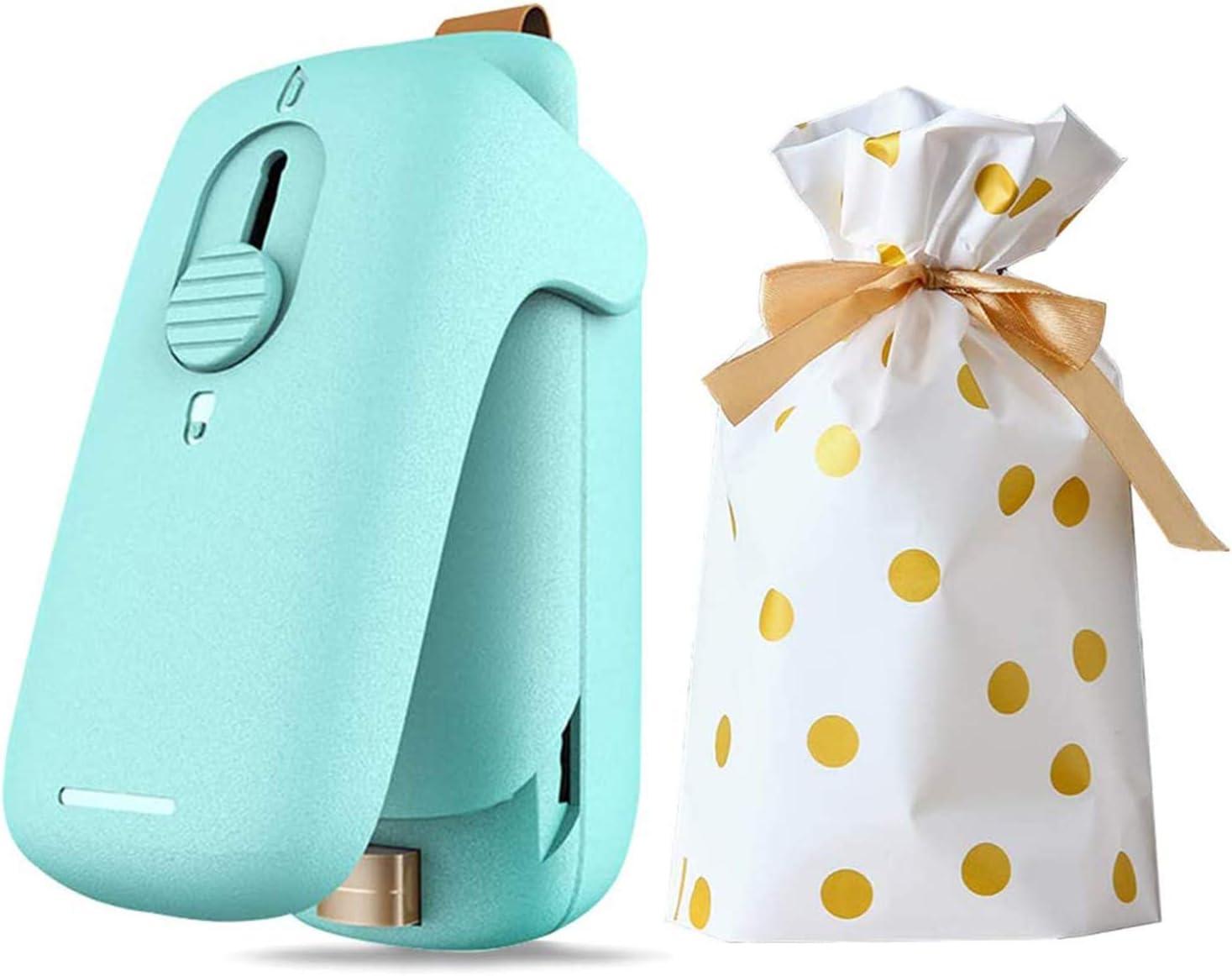 Bag Heat Sealer Mini, 2 in 1 Portable Handheld Heat Vacuum Sealers and Cutter, Bag Resealer Sealer Heat Seal, Plastic Bags Package Food Chip Sealer (Battery Not Included)