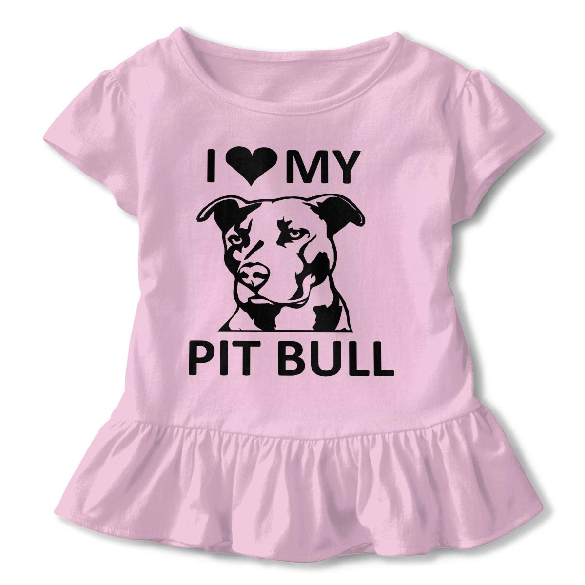 I Love My Pitbull Baby Girls Short Sleeve Tshirts Help Shirt