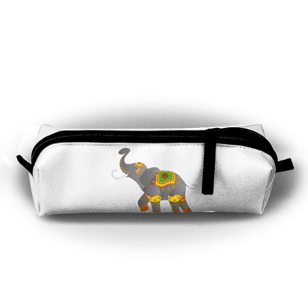 rfhbjthir Clipart Elephantユニセックスペンバッグジッパーコスメティックバッグ円柱Purse   B07D6HY46F