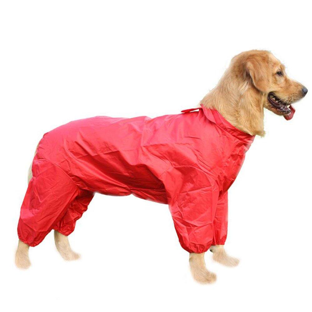 Joo Ropa para mascotas Perro perdiguero grande de tamaño mediano Golden Retriever Chaqueta samoyeda para perros Ropa impermeable de cuatro pies todo en uno
