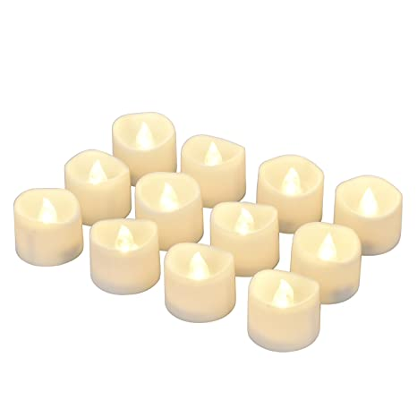 Cool Battery Led Candles With Timer 12 Small Flickering Flameless Tealight With Timer 6 Hours On And 18 Hours Off Dia 1 4X1 6 Height Electric Home Interior And Landscaping Analalmasignezvosmurscom