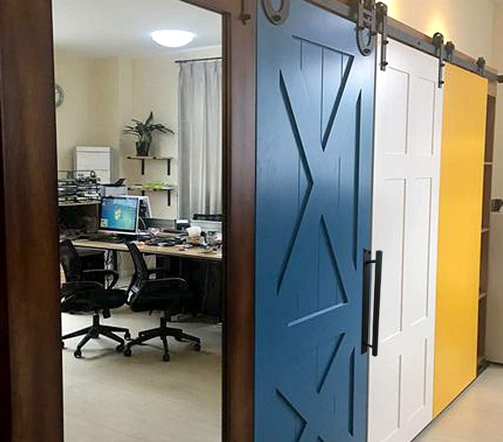 Manijas de puerta de granero para puerta de granero, manija rústica para tirador de puerta, color negro: Amazon.es: Bricolaje y herramientas