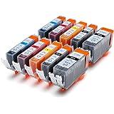 10 kompatible Druckerpatronen mit Chip ersetzen Canon Pixma ip3600 ip4600 MP540 MP620 MP630 MP980 MP 540 620 630 980 ip 3600 4600