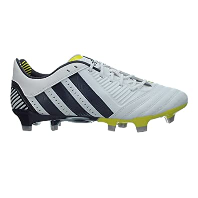 Adidas Predator Incurza TR FG Chaussures de Rugby BlancBleu MarineJaune Blanc