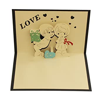 Amazon Love You Pop Up Card Paper Craft For Wife Husband