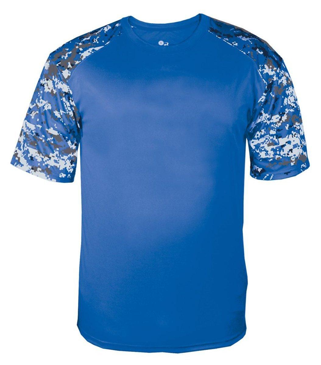 Badgerメンズデジタルスポーツシャツ B013SPMM6I M|Royal/ Royal Dig Royal/ Royal Dig M