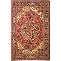 Safavieh Classic Collection CL763B Handmade Traditional Oriental Red and Navy Wool Area Rug (6 x 9)