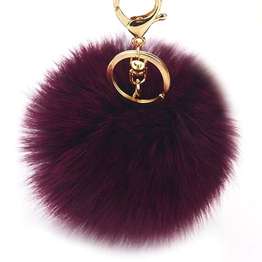 Fuzzy pom keychain
