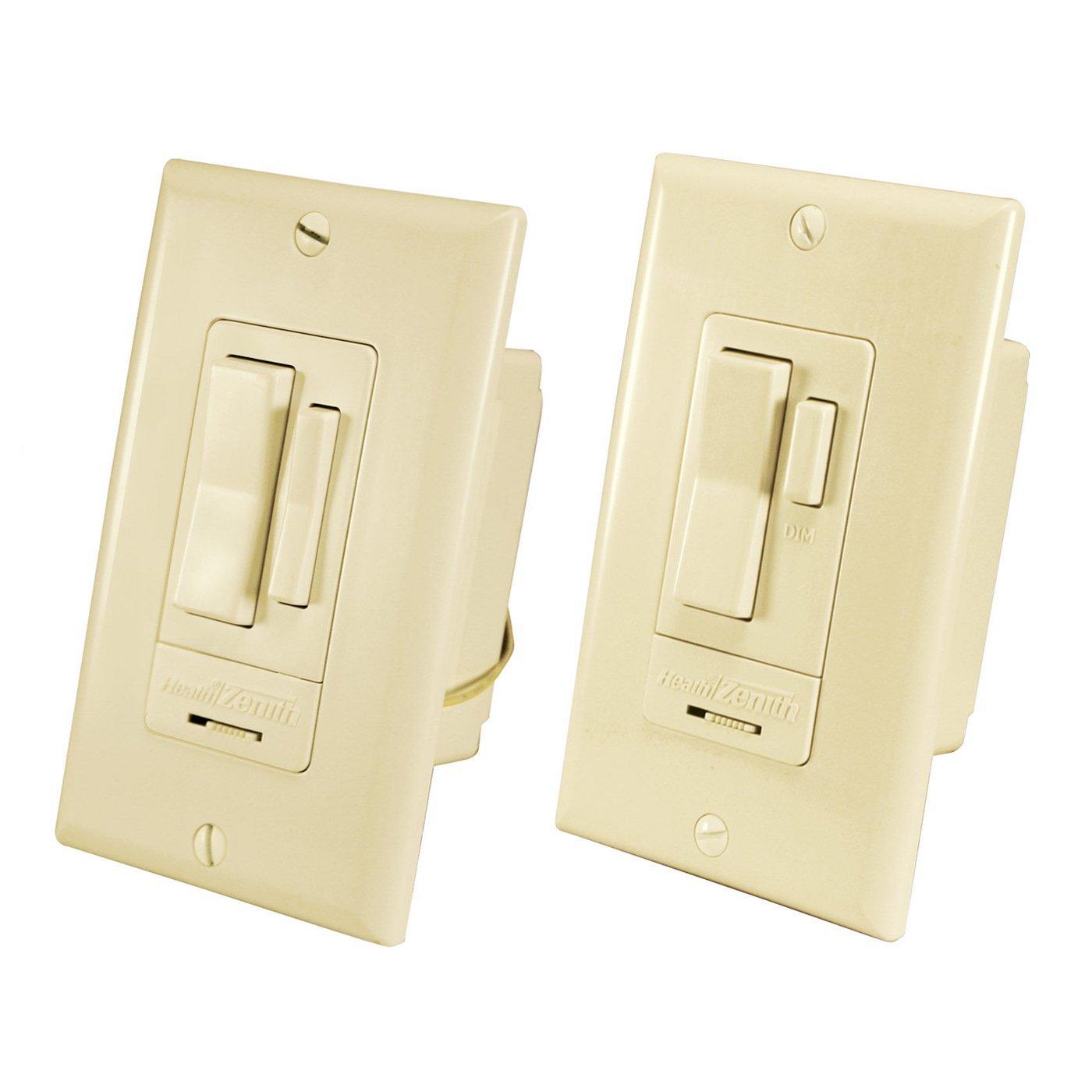 Heath Zenith SL-6023-IV Wireless Command, RF 3-way wall switch, 2 ...