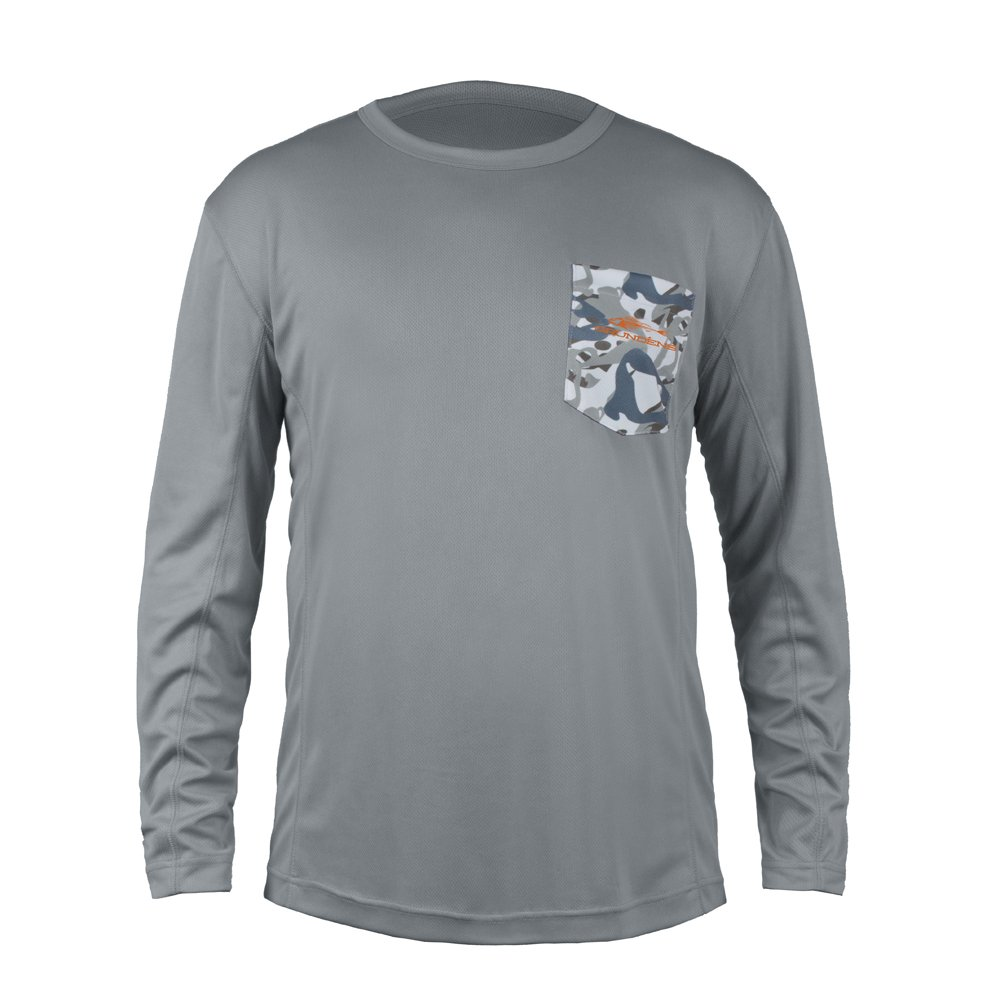 Grundens FHメンズFish Headパフォーマンスシャツ B01N41T271 XX-Large|Monument Grey Monument Grey XX-Large