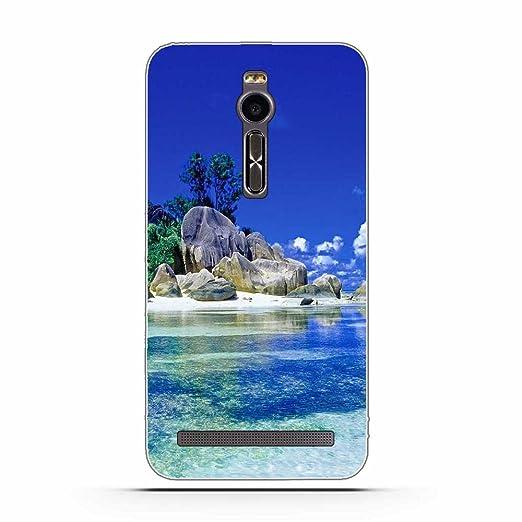2 opinioni per Asus Zenfone 2 ZE551ML Cover, Fubaoda Alta qualità Bello e romantico paesaggio