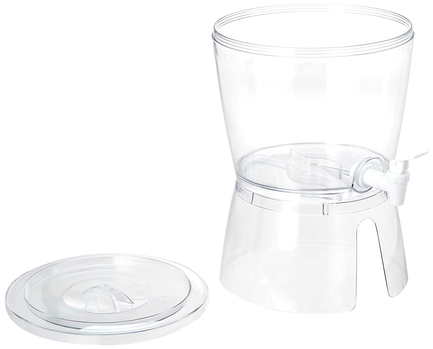 2.8 Gallon Quickway Imports QI003267 Set of 2 Stackable Juice and Water Beverage Dispensers with Stand