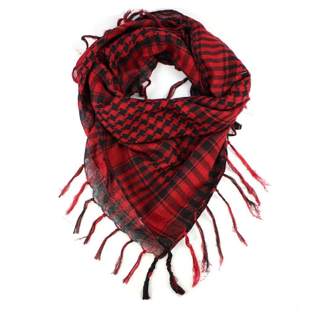 Fashion Scarves, Mapletop Women Men Arab Shemagh Keffiyeh Palestine Scarf Shawl Wrap (Black)
